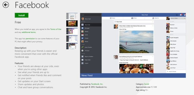 Windows-8.1-Facebook-Application