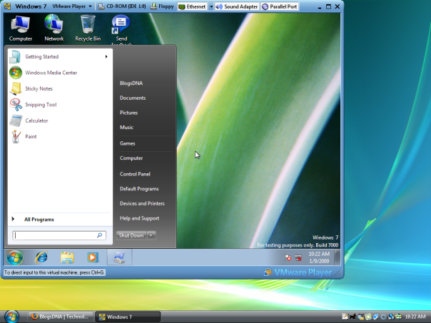 windows-7-beta-1-on-vmware-player