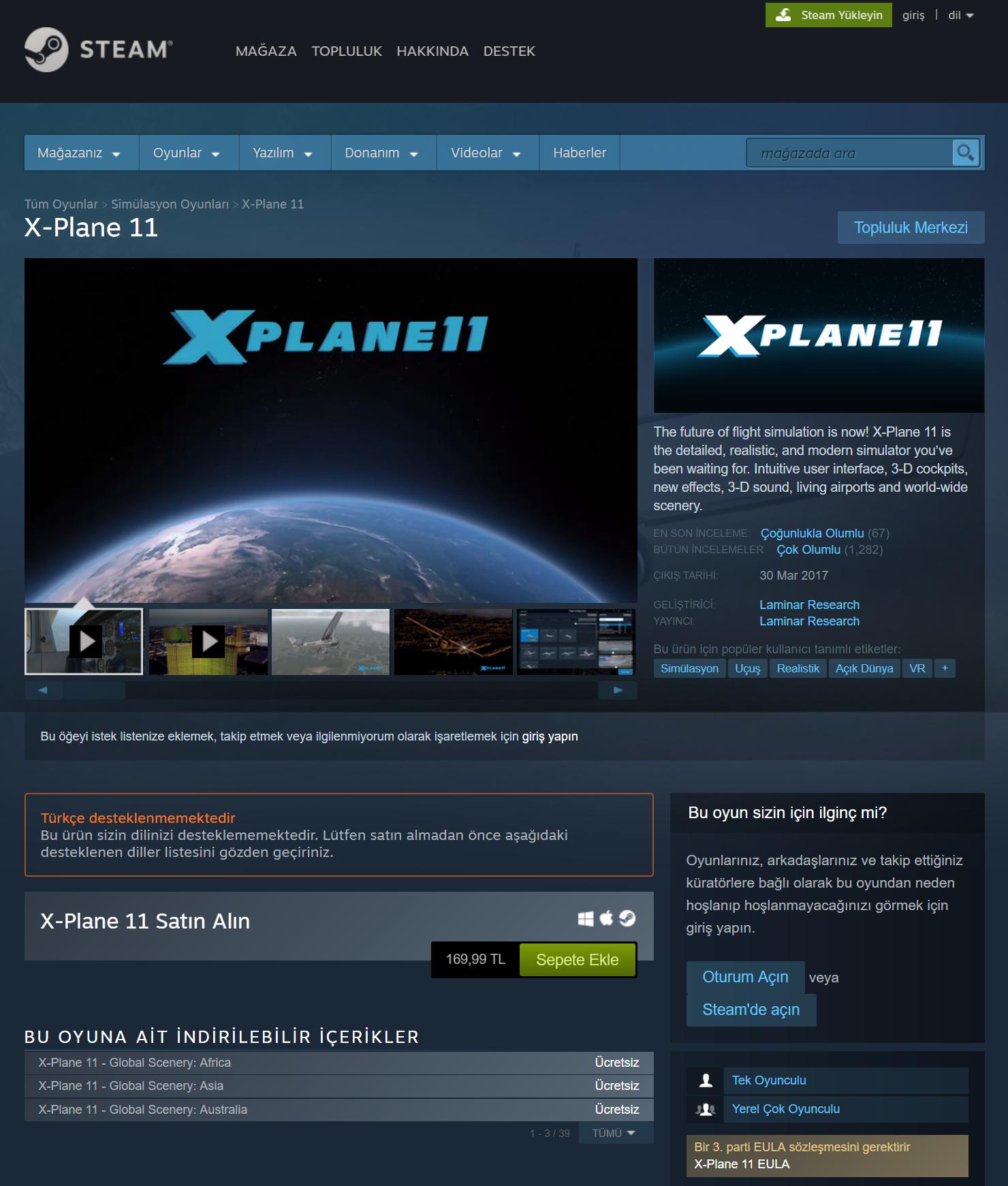 X-Plane 11 Kurulum ve Eklentiler (Rehber) -   ::F1R4T::   | Fırat